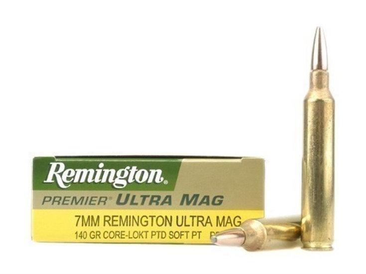 REMINGTON- 7MM REM ULTRA MAG 140 GR CORE LOKT AMMO