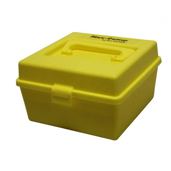 MAX-COMP AMMO BOX MED AND LAFGE RIFLE 100RND DLX YELLOW