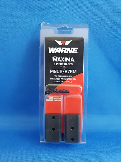 WARNE- REM 700 MATTE BLACK 2PC BASES