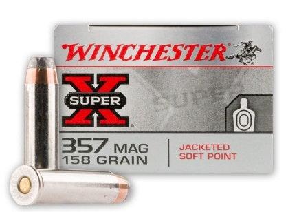 WINCHESTER .357 MAG 158GR JSP
