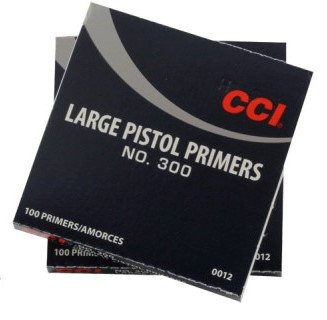 CCI LARGE PISTOL PRIMERS 300 100PK