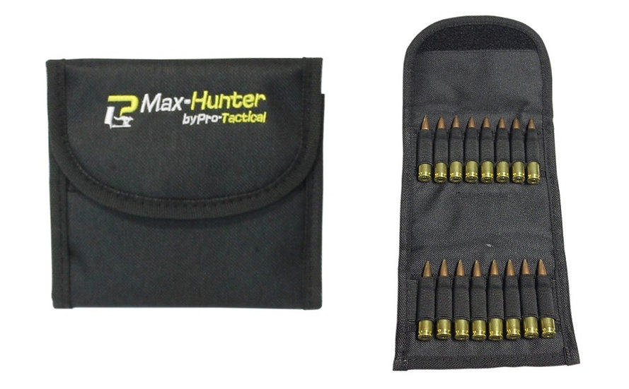 MAX-HUNTER- AMMO POUCH FOLDING RIFLE BLACK 14 ROUND 13X11