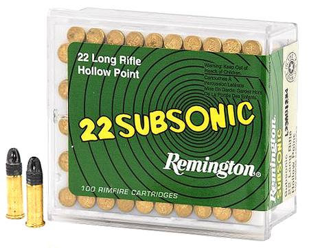 REMINGTON- SUBSONIC 22LR HOLLOW POINT