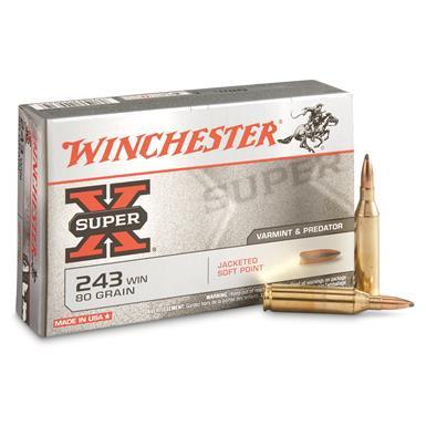WINCHESTER - 243 WIN 80 GR PSP