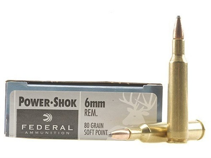 FEDERAL - 6MM REM 80GR SP POWER-SHOK
