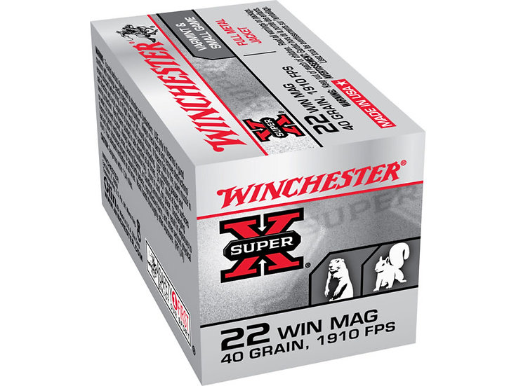 WINCHESTER 22 MAG 40GR SOLID FMJ