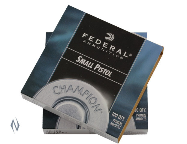 FEDERAL- SMALL PISTOL PRIMERS 100PK