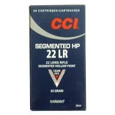 CCI SEGMENTED 22LR 32GR HP