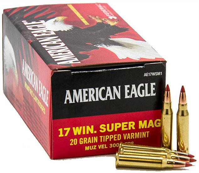 FEDERAL- AMERICAN EAGLE 17WSM 20GR TIPPED VARMINT