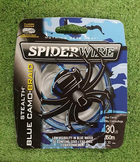 SPIDERWIRE 30LB BLUE CAMO 150M