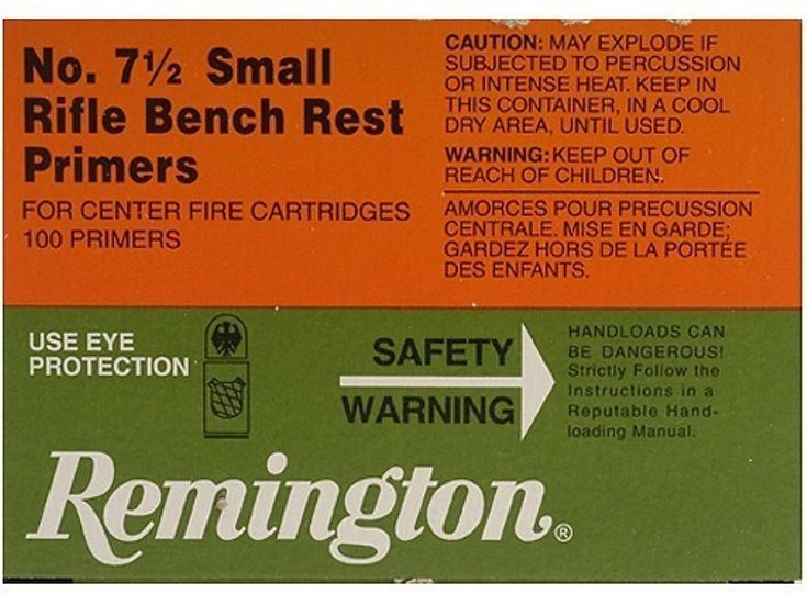 REMINGTON 7 1 2 BENCH REST SMALL RIFLE PRIMERS 100PK