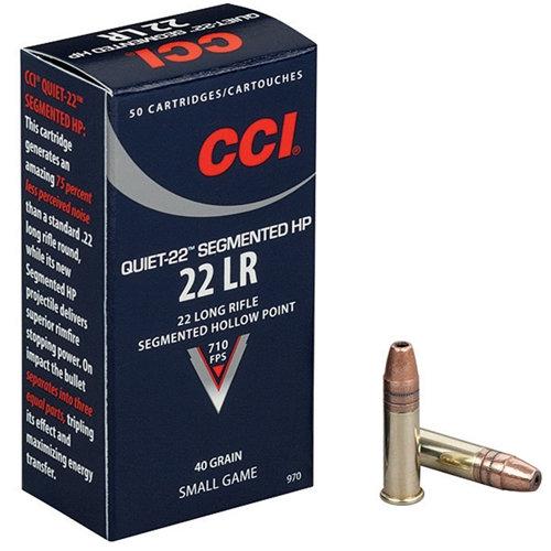 CCI 22LR QUIET 40GR SEGMENTED HP 710FPS