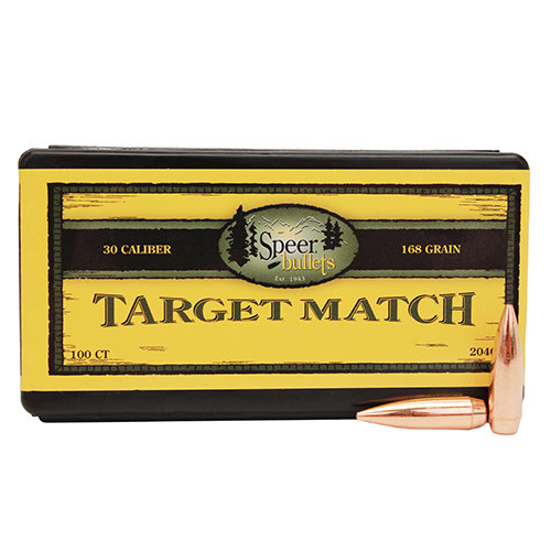 SPEER 30CAL 168GR BOAT TAIL MATCH
