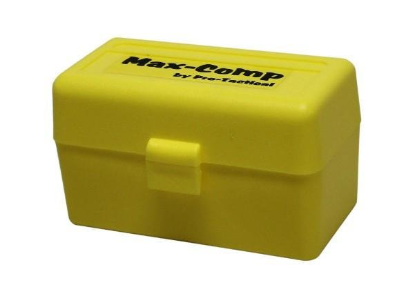 MAX-COMP AMMO BOX SML RIFDLE 50 RND YELLOW FITS 204 222