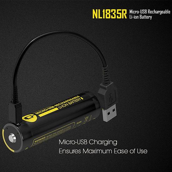NITERCORE- 18650 3500MAH USB RECHARABLE BATTERY