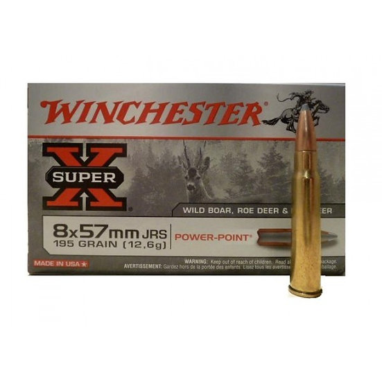 WINCHESTER- SUPER X 8 X 57 JRS 195GR PP