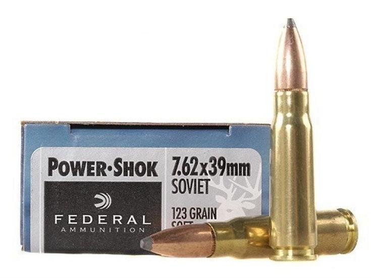 FEDERAL - 7.62X39 123GR SP POWER-SHOK