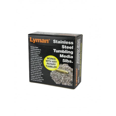 LYMAN- ROTARY CASE STAINLESS STELL MEDIA 5LB