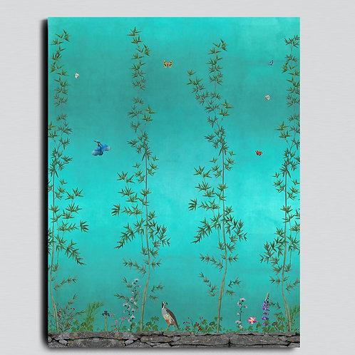 Panel B Chinois Emerald 80 x 180 cm