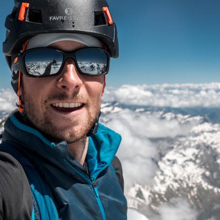Vom tiefsten Punkt der Schweiz auf den Höchsten
