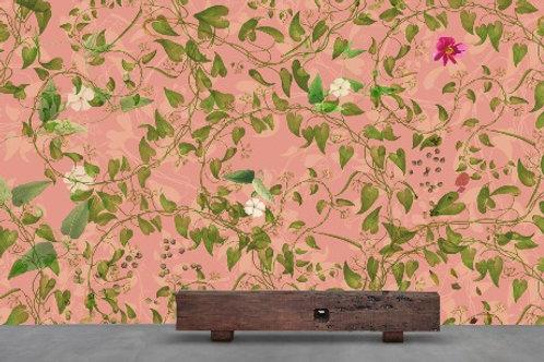 Staaltje Swirling Pink behang en EcoTex