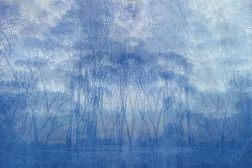 Sample of Blue Forrest wallpaper and Ecotex