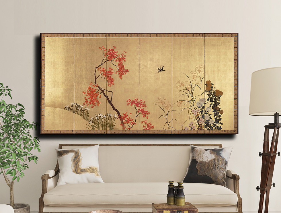 Maple and Flowers