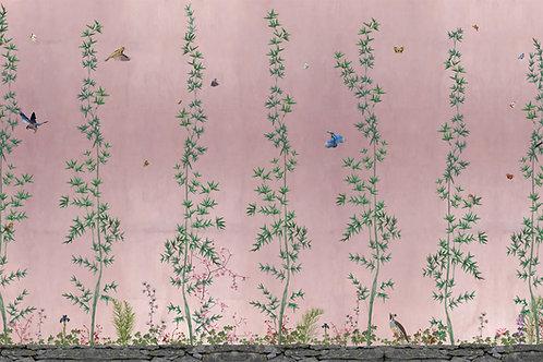Staaltje Chinois Pink behang en EcoTex