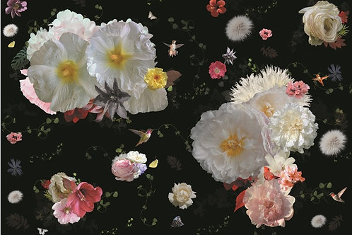 Sample of Roses wallpaper and Ecotex