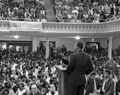 King speaks during Poor People's Campaign.