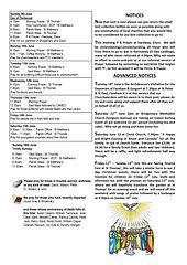 Pentecost - 9th June Pew Sheet