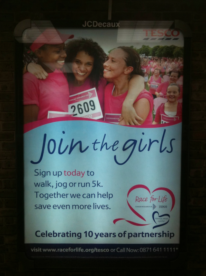 CRUK - Race For Life tube poster