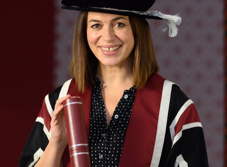 Eve Receives an honorary degree from swansea University.