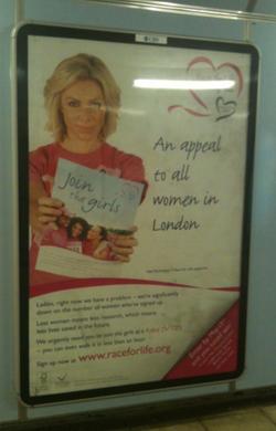 CRUK - Race For Life Tube Poster