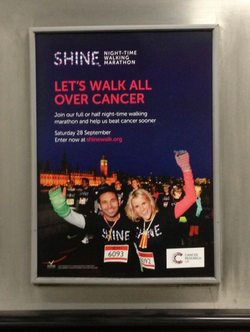 CRUK - Shine Walk - Tube Poster