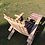 Thumbnail: Wine Barrel Oak Convertible Footstool/Table