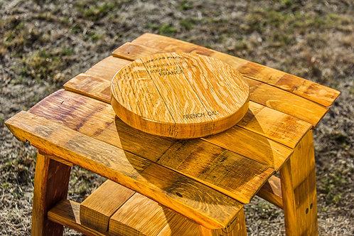 Wine Barrel Oak Cheese Round