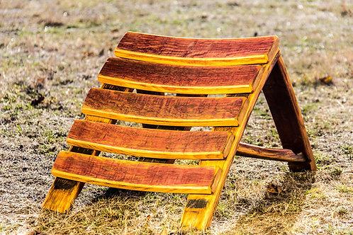 Wine Barrel Oak Convertible Footstool/Table