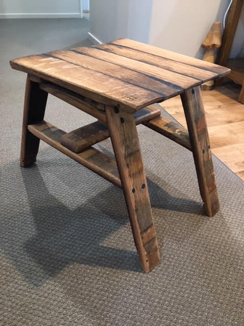 Wine Barrel Oak Small Stave Table