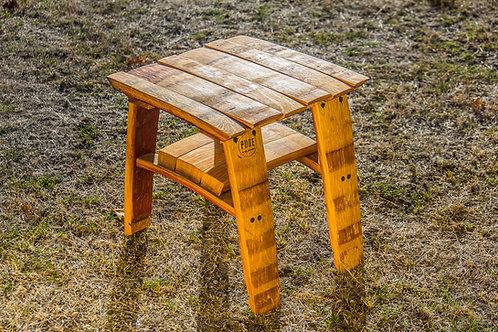 Wine Barrel Oak Small Stave Table