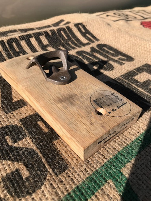 Wine Barrel Oak Bottle Opener
