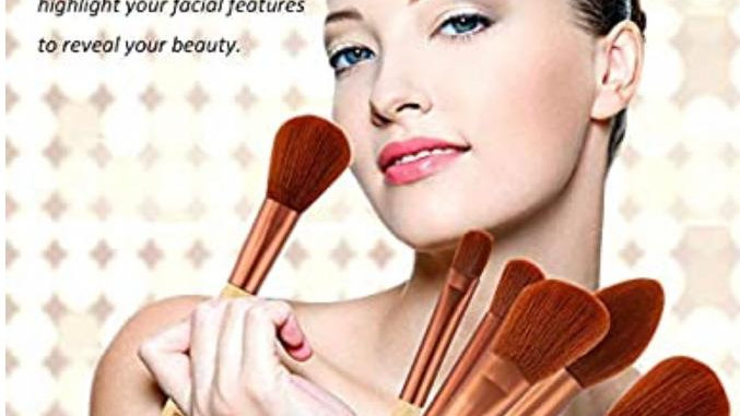 Brochas Qianying 10 piezas de maquillaje profesionales de bambú natural,