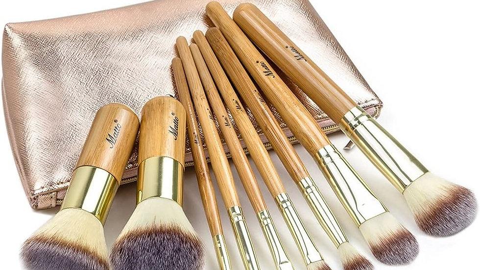 Brochas de maquillaje MATTO 9 piezas con estuche