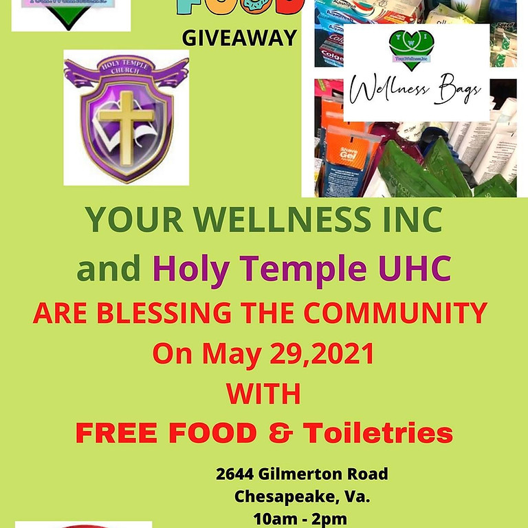 Your Wellness Inc and Holy Temple UHC Community Drive
