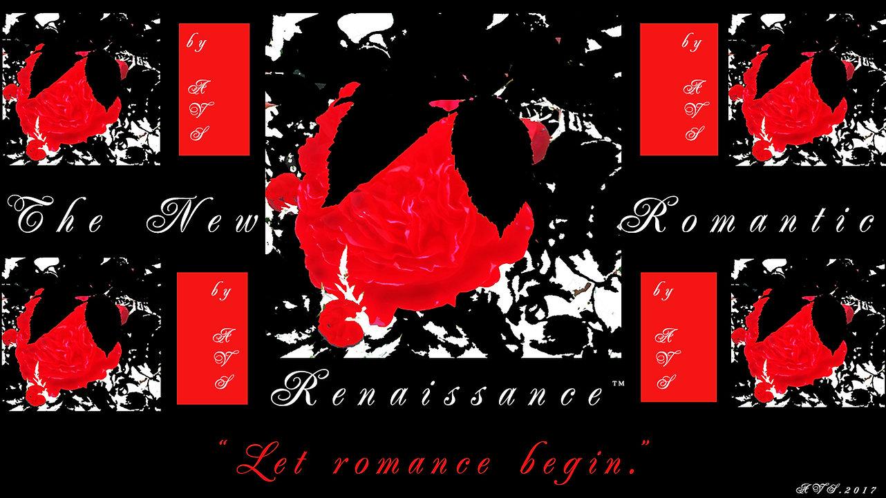 #2_Shy Roses_Let Romance Begin_Art is Life_Flag Poster_Art_Modern_Graphic_Designed by Anastasia V. Silva_The New Romantic Renaissance_(by AVS)