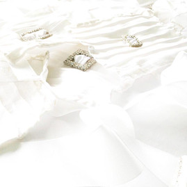 Wedding Wristlets™ in Pure Morning, Shining in a Sparkling Sea of Satin by AVS™ | Anastasia V. Silva™
