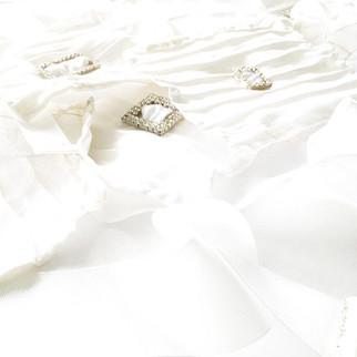 Wedding Wristlets™ in Pure Morning, Shining in a Sparkling Sea of Satin by AVS™ | Anastasia V. Silva™