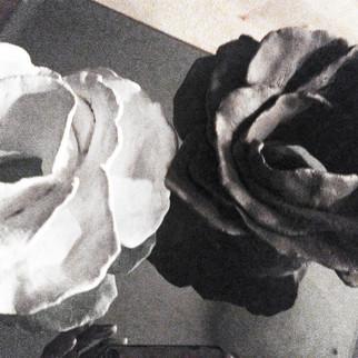 Bouquet Holders™, in White + Black (Bride + Groom) by AVS™   Anastasia V. Silva™