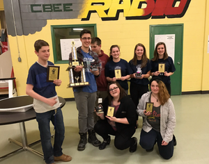 Sumobot Competition - 1st place winners —St. Malachy's Memorial High School.  2nd place awarded to RNS - 3rd place awarded to Simonds High School.