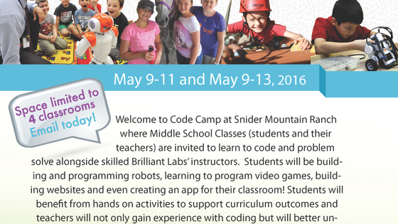CODE CAMP FOR NEW BRUNSWICK MIDDLE SCHOOLS!